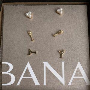 Banana Republic 3 pairs earrings